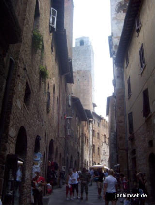 Touristen in San Gimignano